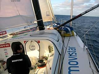 A bordo di Mapfre
